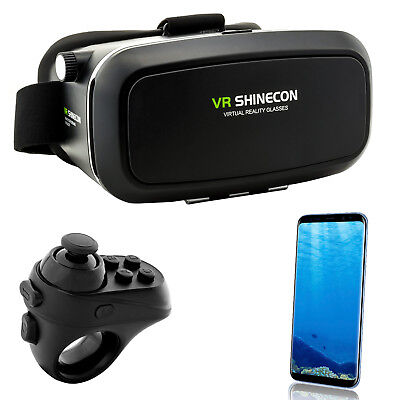 3D VR Virtual Reality Brille für Samsung Galaxy S5 S6 S7 Edge S8 + A3 A5 A7 2017