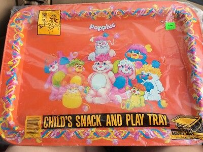 Vintage Brand New In Package 1980s Popples Tin TV Tray 80s Nostalgia