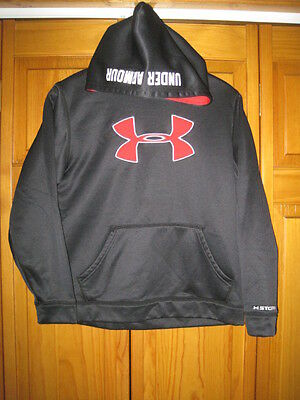 Under Armour Cold Gear sweatshirt hoodie YLG black exercise running fitness gym