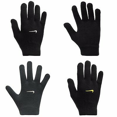 Boys Girls Nike Knitted Gloves Kids Football Training Cold Weather Winter Warm
