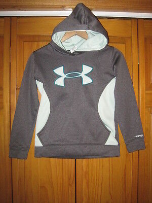 Under Armour Storm Cold Gear hoodie sweatshirt girls YSM S gray exercise running