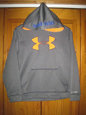 Under Armour Storm Cold Gear sweatshirt hoodie YLG L gray fitness gym soccer