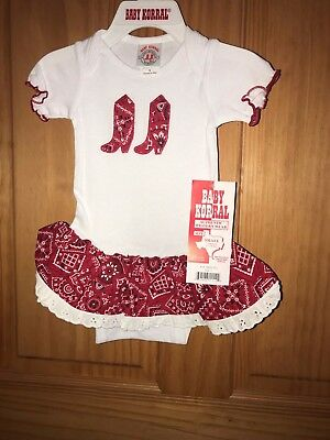 BABY Korral Toddler Girl's Size Small -12 Months Red White One-piece 11R NWT