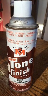 Vintage Mohawk TONE FINISH CHERRY Spray Paint Tin Can Advertising