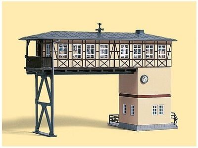 AUHAGEN HO SCALE - BRIDGE SIGNAL BOX - plastic model kit-set 11386