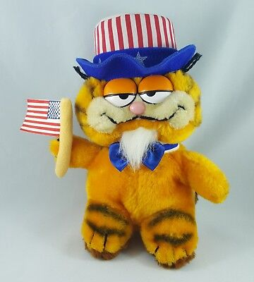 1981 Dakin Garfield Cat Uncle Sam Patriotic Plush Toy United Feature Syndicate