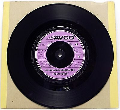"""THE STYLISTICS : NA NA IS THE SADDEST WORD 7"""" Vinyl Single 45rpm Excellent"""