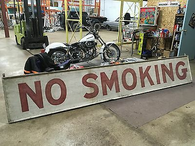 Hand painted 1950s 12 ft no smoking sign tobacco