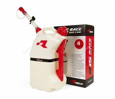 racing motorsport Fuel Petrol Canister 15 Litre White/Red