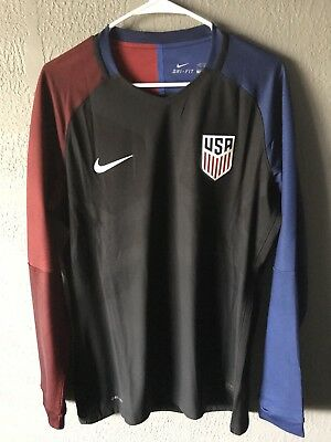 50145230e2a NIKE USA SOCCER JERSEY - US USMNT Rare Player Issue Match Long Sleeve Xl  DTOM