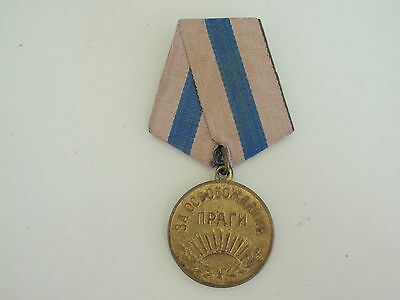 Soviet Russia Prag Medal. Original Issue. Vf+