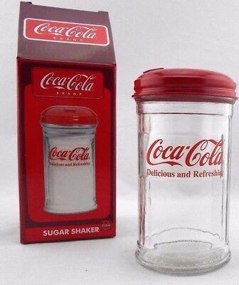 TableCraft Coca-Cola CC323 12-Ounce Glass Sugar Shaker Brand New Never Used