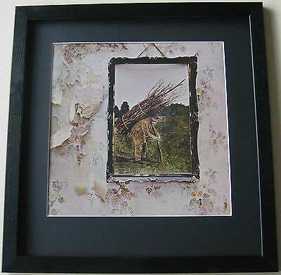 LED ZEPPELIN Led Zeppelin IV Four Symbols FRAMED ALBUM COVER