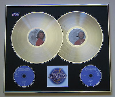 BEE GEES Greatest PLATINUM DOUBLE LP & Double CD Disc Presentation