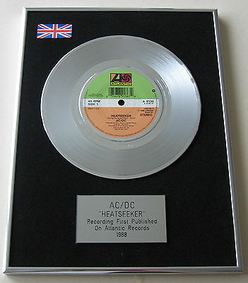 "AC/DC Heatseeker PLATINUM 7"" Single Disc Presentation"