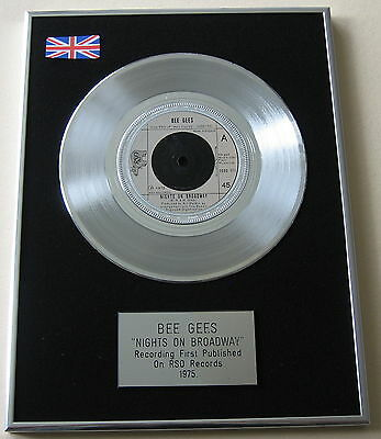 "BEE GEES Nights On Broadway 7"" Single PLATINUM DISC Presentation"