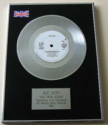 BEE GEES You Win Again PLATINUM Single DISC Presentation