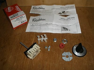 NEW Robertshaw 5500-103 Residential Electric Cooking Control Kit Black Dial
