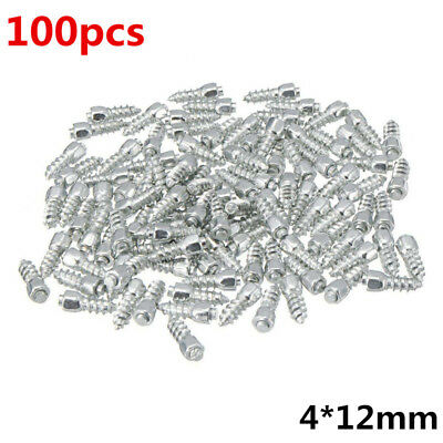 100pcs 12mm Car Screw in Tire Tyre Stud Snow Racing Track Anti-Slip Ice Studs