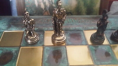 chess set Ancient Greece warrior gods set