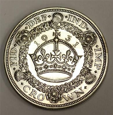 1931 Great Britain Silver Crown Choice Uncirculated MS63+ authentic & original
