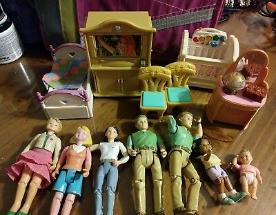 Fisher Price Loving Family Dollhouse People Furniture  Accessories Lot