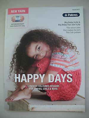 Patons Pattern Book 8015 - Happy Days - Big Baby 8ply - Baby Kids Knitting