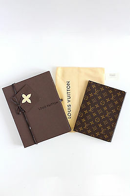 LOUIS VUITTON Necessaire PM brown leather monogram folder Organizer box dust bag