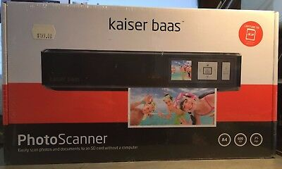 """kaiser bass PhotoScanner 1.45"""" TFT LCD Screen+Scan direct to SD/SDHC card Sealed"""
