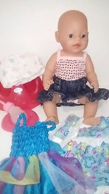 Zapf Creations Baby Born Doll Zapf Clothes Accessories Interactive Real Tears