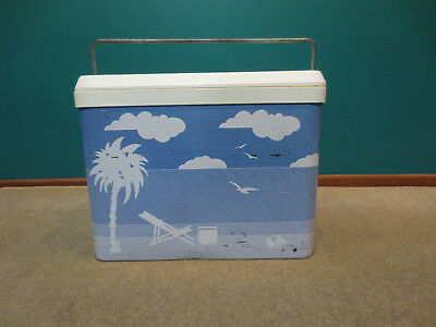 Classic 1970's vintage metal Willow esky / cooler with drain - great condition