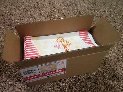 1 Case of 500 1.5oz Popcorn Bags