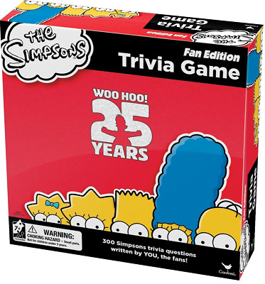 The Simpsons Trivia Board Game Fan Edition 25th Anniversary Homer New and Sealed