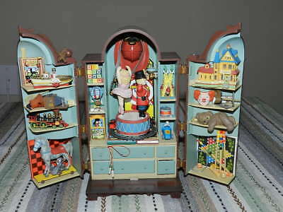 1989 Enesco - The Dream Keeper - Deluxe Action Musical Toy Cabinet