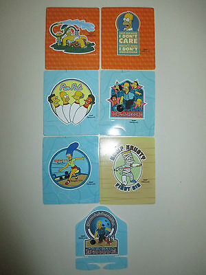 The Simpsons 2005 Tazo Twisties Collection x 7