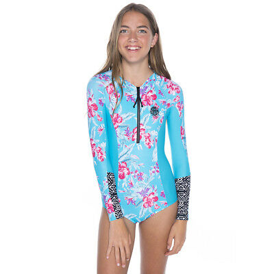 Rip Curl Girls Long Sleeve Rash Suit in Blue