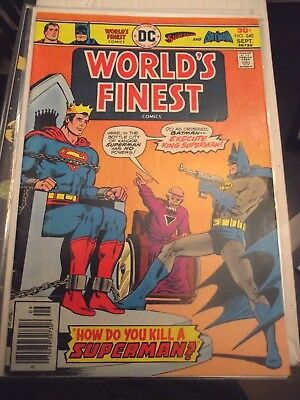 Worlds Finest #240 Superman and Batman How do you Kill a Superman? VG-