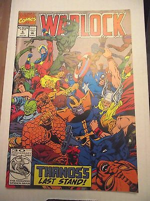 Warlock #6 Thanos's Last Stand Avengers, Thanos 1992 FN