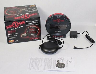 Sonic Bomb Alarm Clock with Bed Shaker SBB500ss (170013)