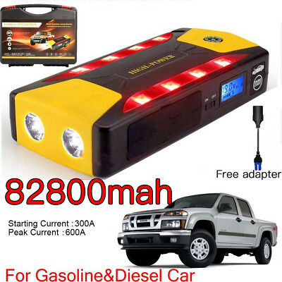 82800mAh Car Jump Starter Portable Charger Booster PowerBank Battery Parking LED