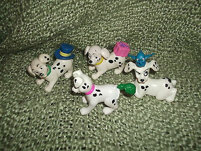 "Four 101 Dalmatians  Disney McDonalds figs 3' x 3"" - all different"
