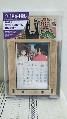 Spirited Away 2018 Stained Frame Calendar Japan Import US Seller