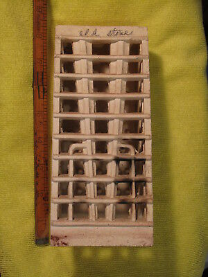 "FREESHIP/48 Tall 8"" Ceramic Brick Block Grate for gas heater Vintage Antique HTF"