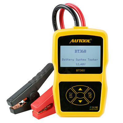 AUTOOL BT-360 12V Car Cranking Test  Charging Battery System Tester CCA 100-1400
