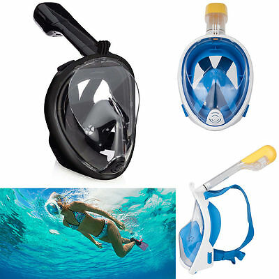 Full Face Snorkeling Mask Scuba Diving Swimming Snorkel Breather Tool for Gopro