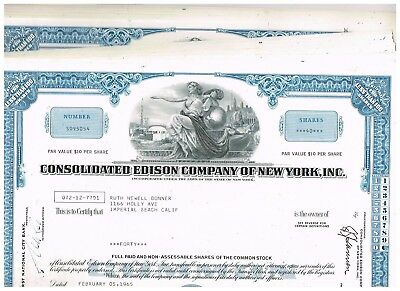 Wholesale-Lot 23 Consolidated Edison Co. of New York, Inc., 1960s, blue