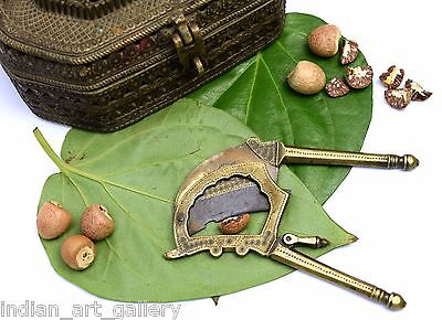 Unique design vintage brass betel nut cutter Great Indian home accents. i12-52