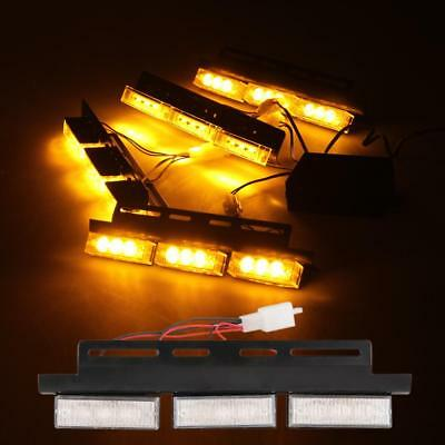 12V LED Strobo Light Blitzer Universal Dash Light Auto KFZ Amber