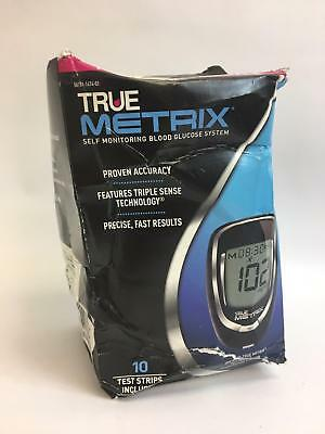 True Metrix Self Monitoring Blood Glucose System - 10 Strips Included