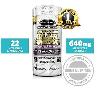 MuscleTech Platinum Multi Vitamin For Her 90 Tablets Multivitamin Muscle Tech